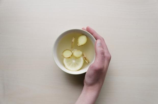 Zencefilli portakallı çay